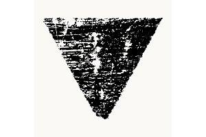 Grunge Isolated Triangle
