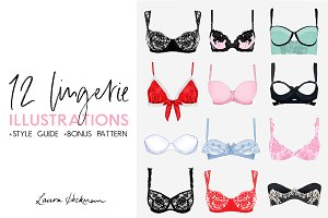 12 BRA ILLUSTRATIONS + STYLE GUIDE