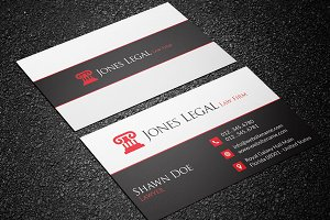 Law Firm Business Card Template 32