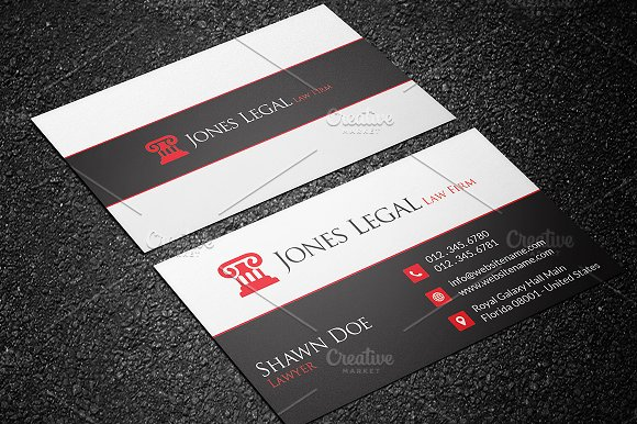 Law Firm Business Card Template 32 Cards