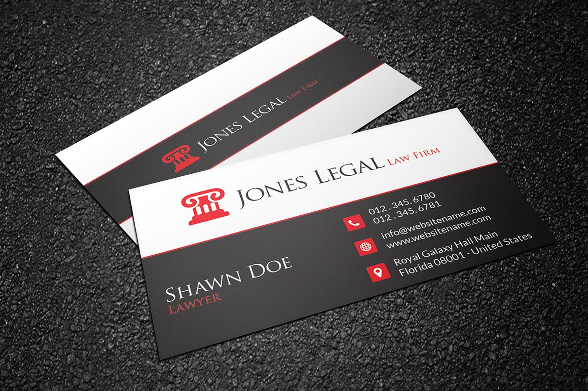 Law Firm Business Card Template 32 - Business Card Templates ...