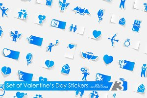 73 Valentine's Day stickers
