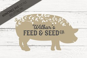 Wilbur's Feed and Seed SVG Cut File