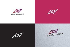 Letter N logo design