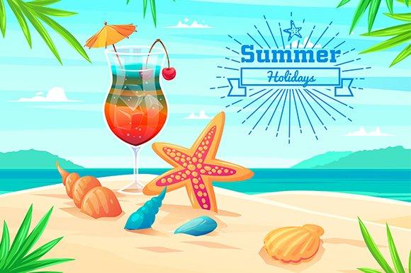 Summer holidays illustration. Vector - Illustrations