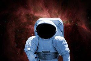 close up astronaut triping through g