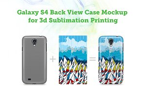 Galaxy S4 3d Sublimation Case Mockup
