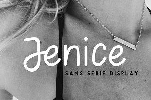 Jenice | dispaly font