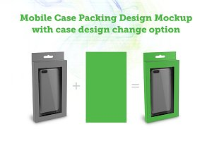 Mobile Case Packing Design Mockup