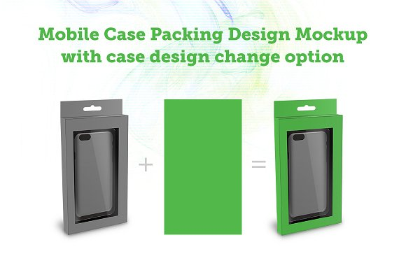 Free Mobile Case Packing Design Mockup