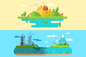 Ecology design concept. Vector