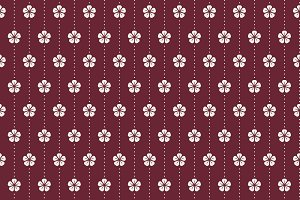 Japanese pattern with plum blossom