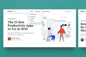Parrot: Bootstrap Blog Template