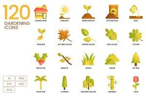120 Gardening Icons   Caramel