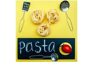 Pasta concept,, Tagliatelle before