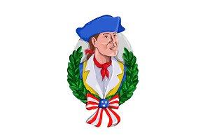 American Patriot Wreath Watercolor R