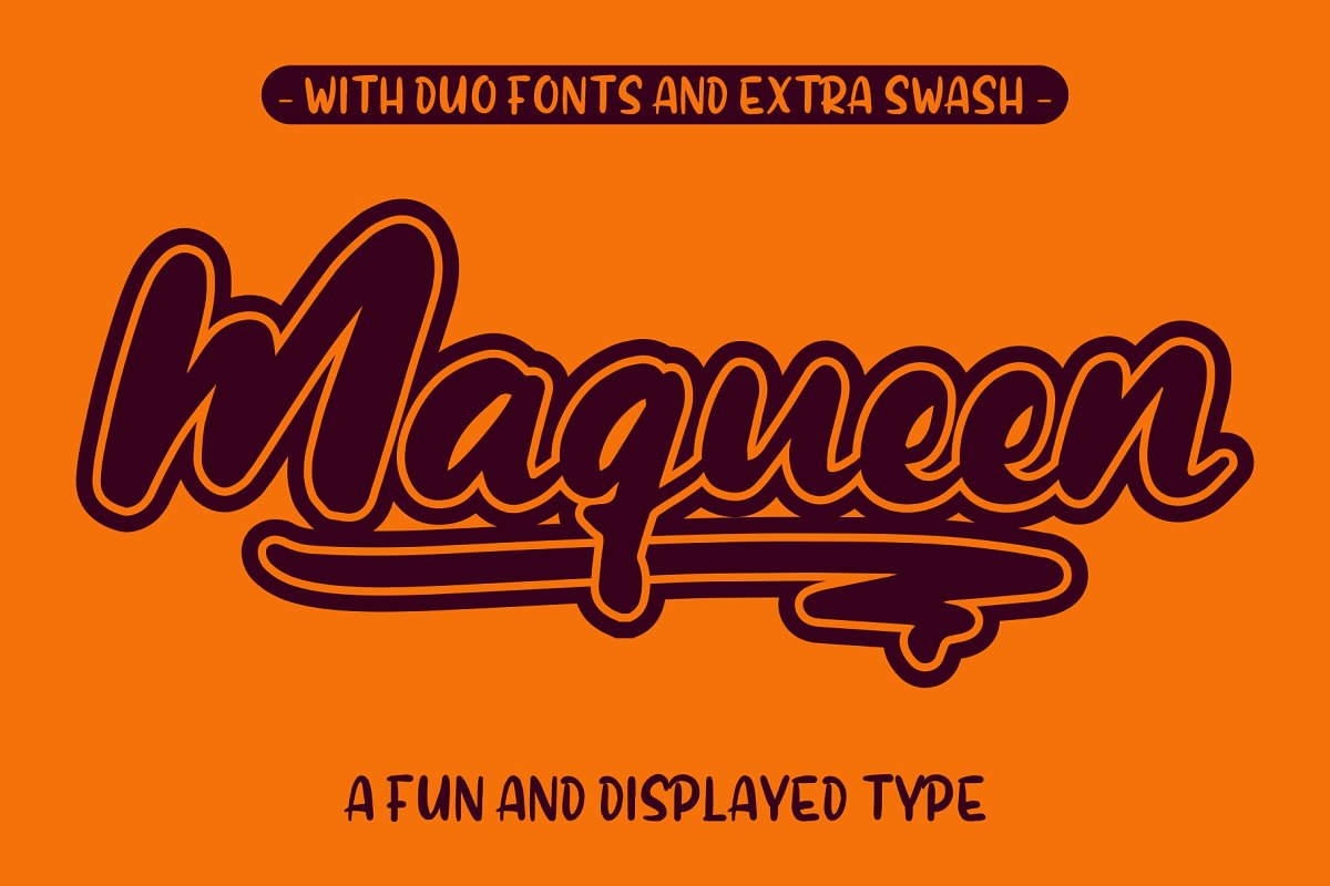 Maqueen in Display Fonts - product preview 8