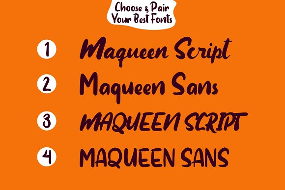 Maqueen in Display Fonts - product preview 4