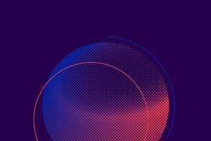 Purple and pink halftone vector