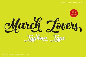 March Lovers font