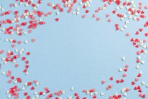 Valentine's day background - present