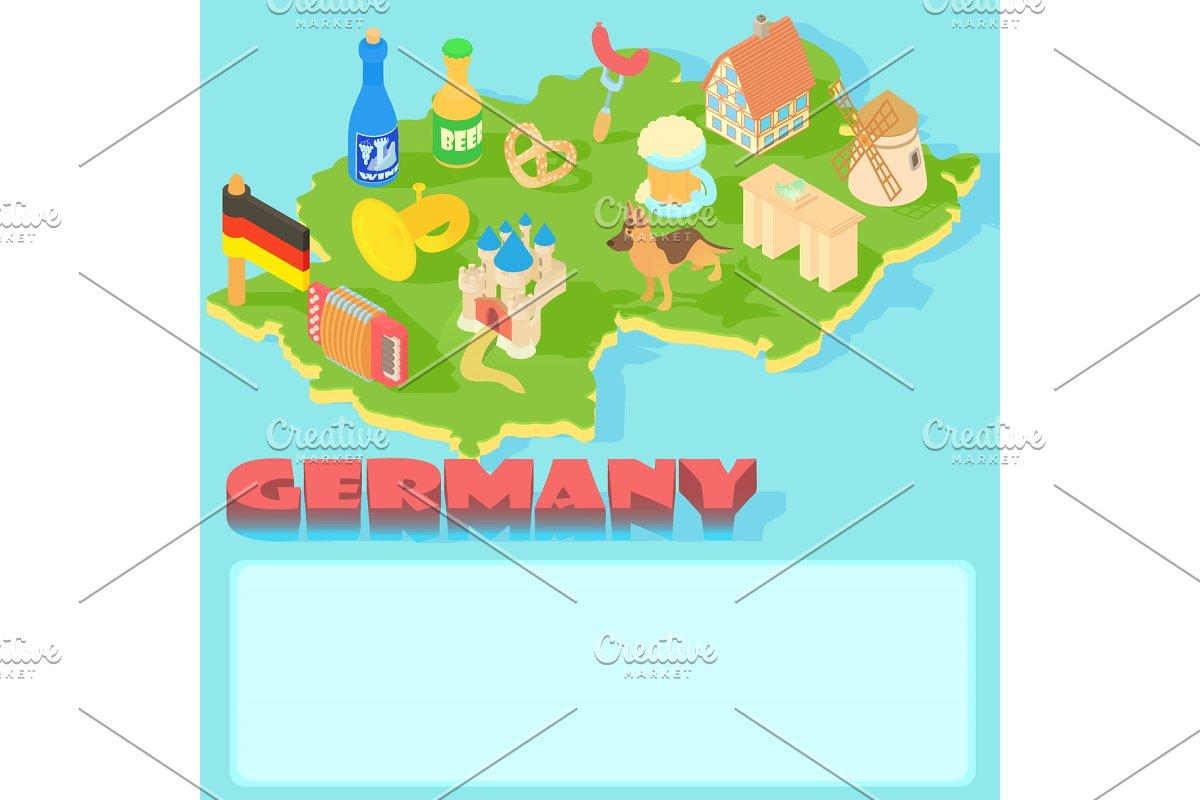 Cartoon Map Of Germany.Germany Map Cartoon Style