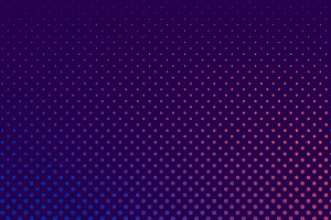 Purple and pink halftone background