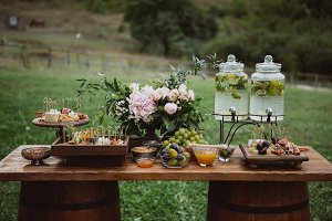 Wedding candy & cheese bar