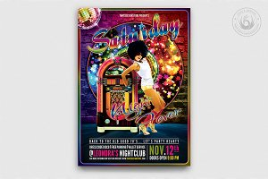 Saturday Night Fever Flyer Template
