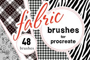 Fabrics Procreate Brush Set