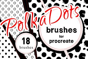 Polka dots Procreate Brush Set
