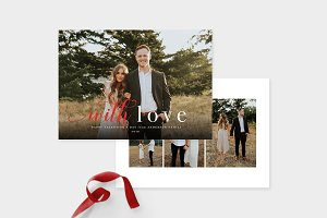 Valentine's Day Card Templates VC004