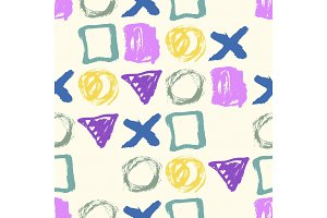 Seamless hand drawn pattern with