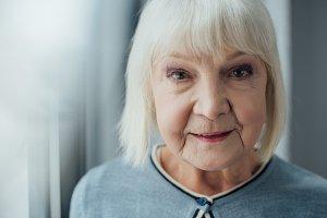 portrait of smiling senior woman wit