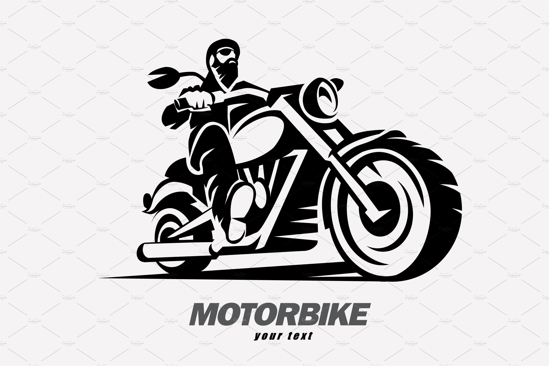 Motorbike And Biker Logo Template Logo Templates Creative Market