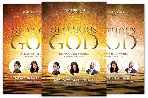 Glorious God Church Flyer