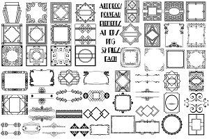 Art Deco/Nouveau Elements AI EPS PNG