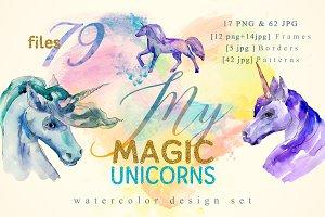 Magic Unicorn Watercolor png