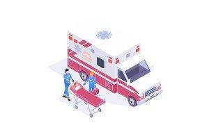 Isometric Ambulance Service