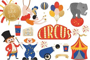Circus & Carnival Show Clipart Set