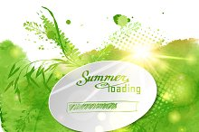 """№32 Postcard with the words """"Summer"""