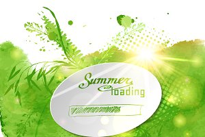 "№32 Postcard with the words ""Summer"