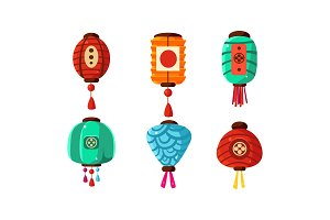 Colorful Chinese festival lanterns