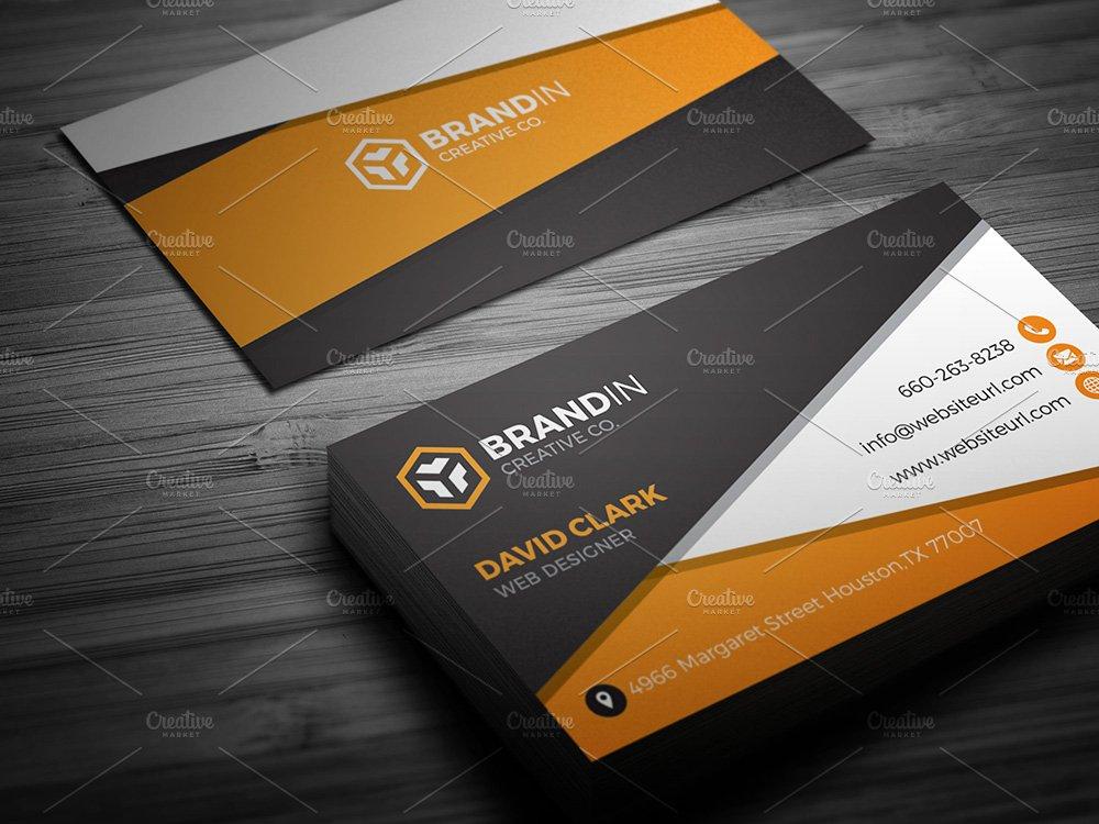 Orange Business Card Template ~ Business Card Templates ~ Creative ...