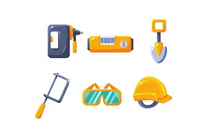 Cute construction hand tools, level