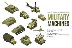 Military Machines Isometric Set