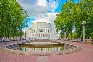 Fountain near Opera Theatre in Minsk