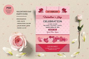 Valentines Day Party Flyer -V934