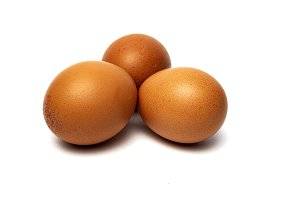 Eggs on white background.Isolated