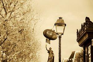 Paris. Chinese New Year. Sepia.